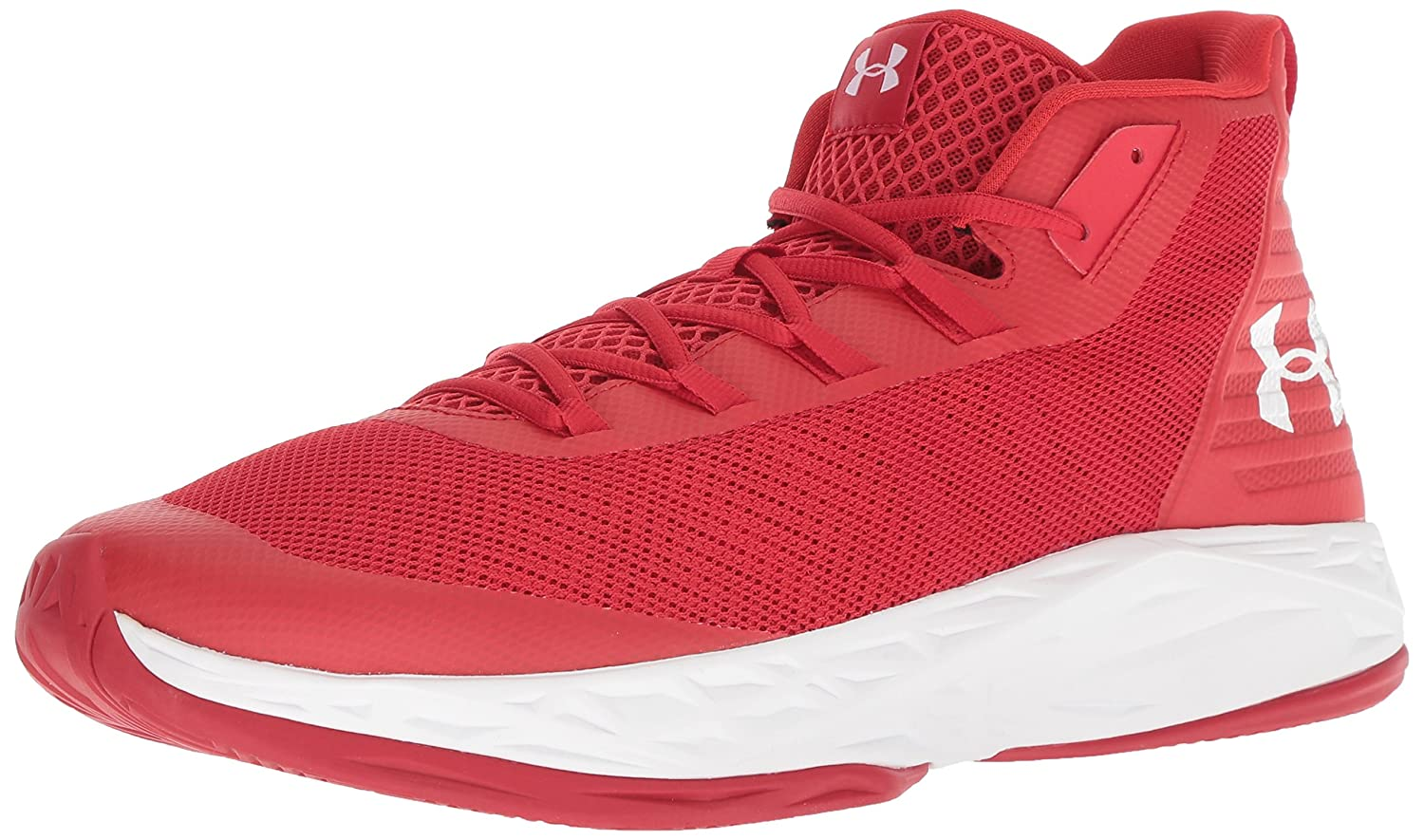 Under Armour UA de Jet Mid, Chaussures de UA Basketball Homme 42 EU|Rouge (Red/White) 371a61