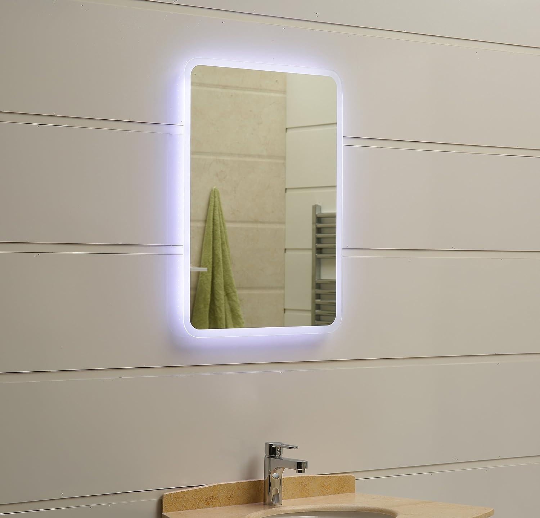 Dr. Fleischmann modernes Lichtspiegel Lichtspiegel Lichtspiegel Wandspiegel Badspiegel GS045N mit LED-Beleuchtung IP44 (80 x 60cm, kaltweiß) 0359de