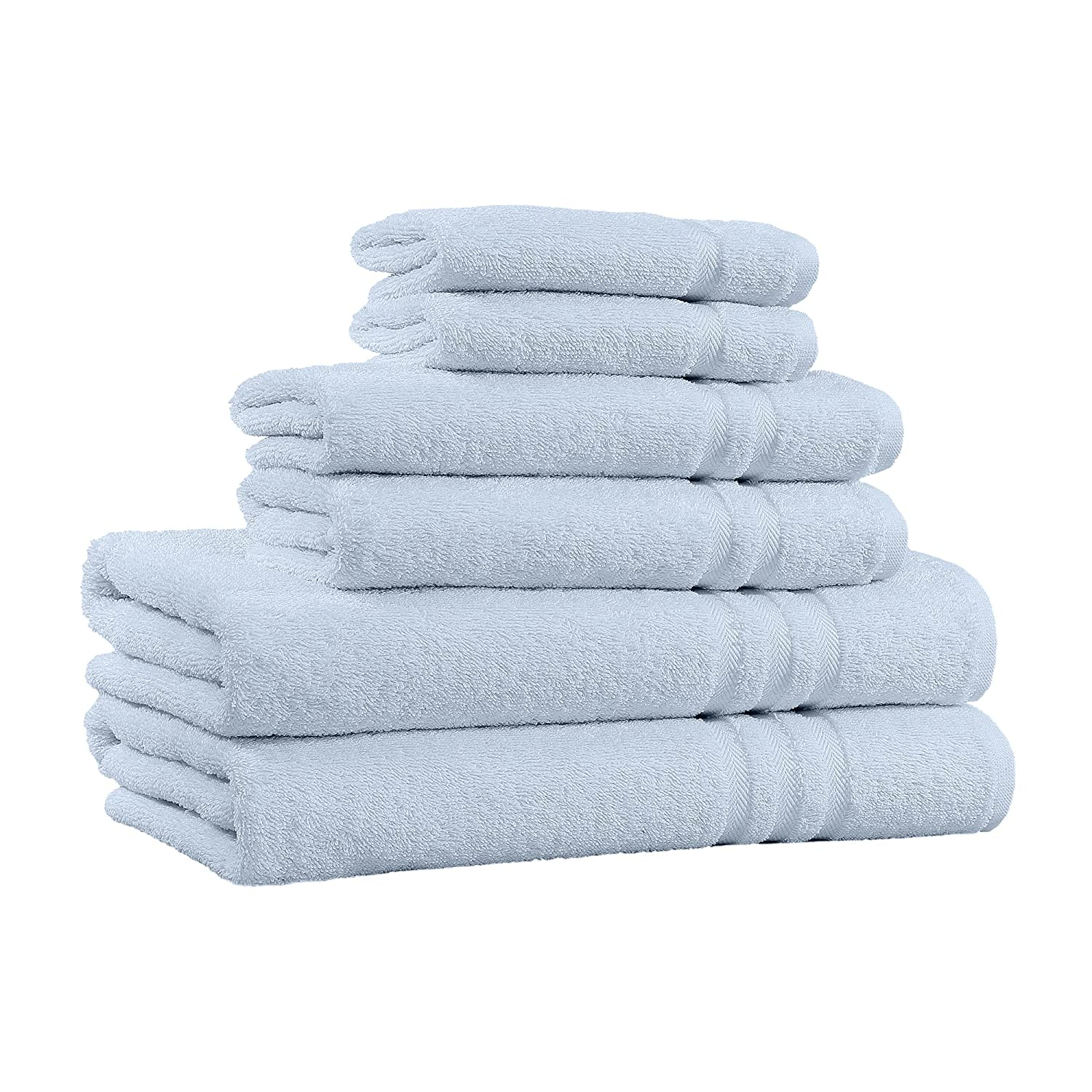 100% Cotton 6-Piece Towel Set - 2 Bath Towels, 2 Hand Towels, and 2 Washcloths - Super Soft Hotel Quality, High Absorbent Quick Dry Towel, and Fade-Resistant - 650 GSM - Made in India (White) Home Sweet Home Dreams Inc