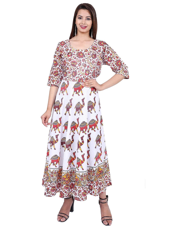 bdb61b32f22 Dhruvi Cotton Long Maxi Dress for Women Girls