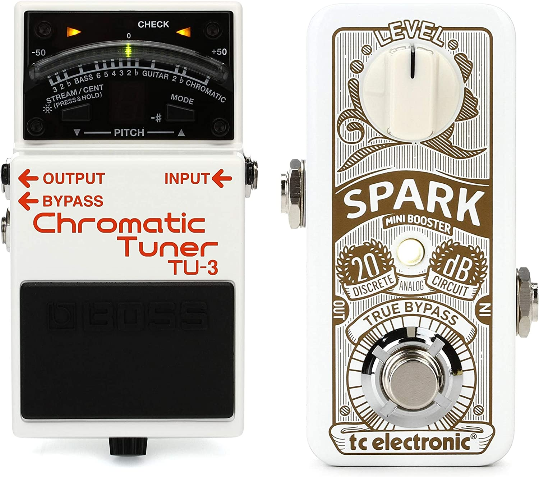 TC Electronic Spark Mini Boost Pedal Value Bundle Boss TU-3 ...