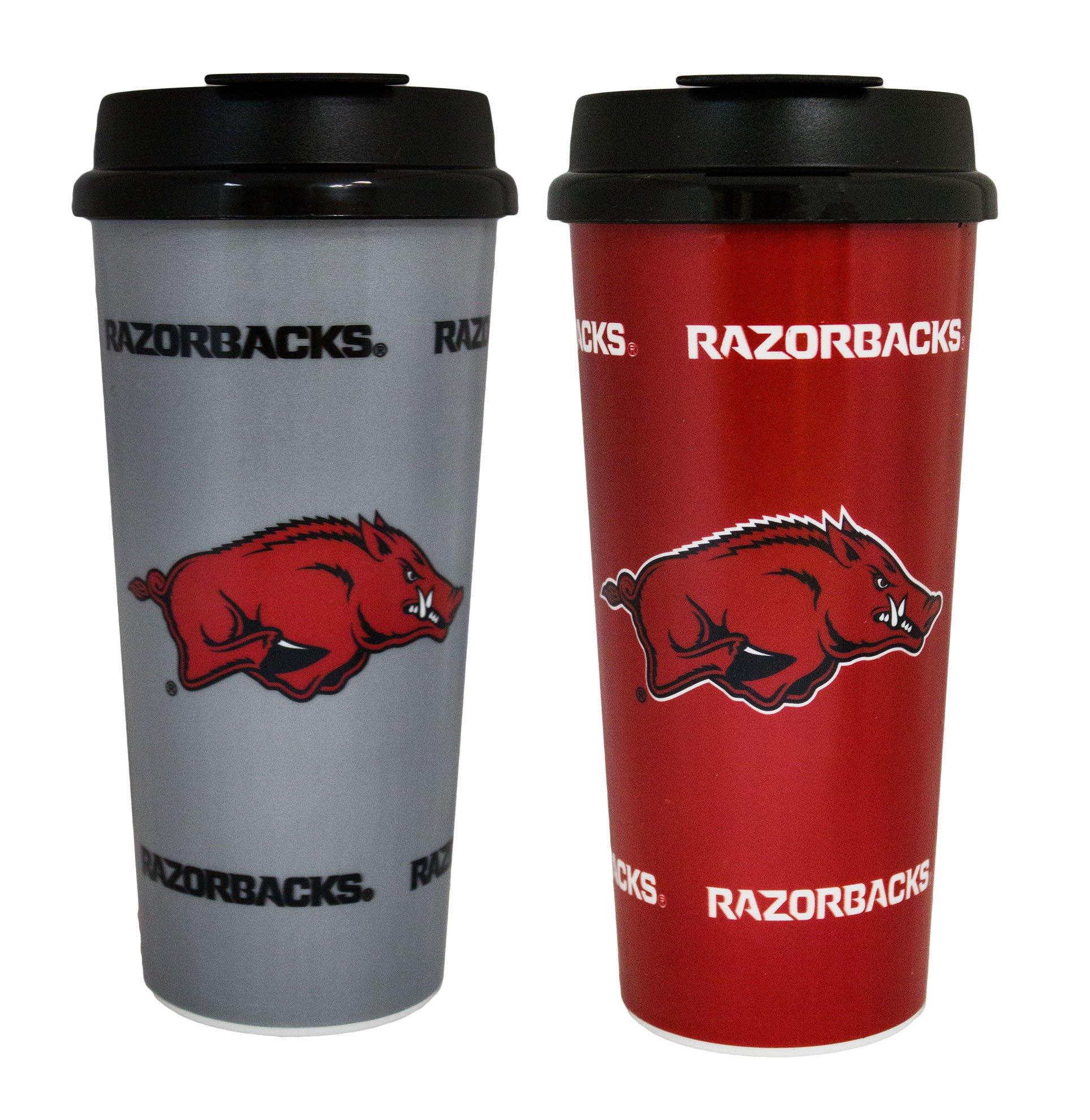 GameDay Novelty NCAA Arkansas Razorbacks Insulated Travel Tumbler, 16 oz