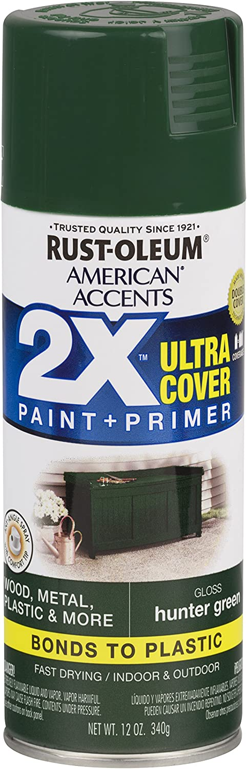 Rust-Oleum 327879 American Accents Spray Paint, 12 oz, Gloss Hunter Green