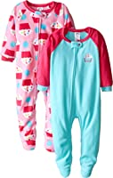 Gerber Girls' 2 Pack Blanket Sleepers