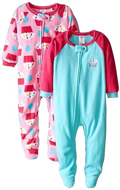 e6b03b921086 Amazon.com  Gerber Girls  2-Pack Blanket Sleeper  Clothing