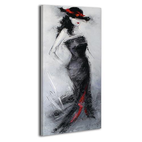 100% HANDMADE + Certificato | Quadro dipinto con colori acrilici Bellissima sconosciuta | 115x50 cm | dipinti su tela con lettiga in legno | artigianali | Comodo fissaggio alla parete | Arte Contemporanea