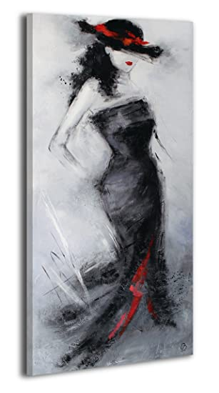 Ys Art Acryl Gemalde Schone Fremde Handgemalt 115x50cm Wand