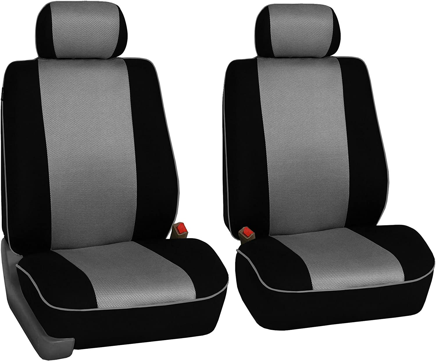 Truck FH Group FH-FB063128 Three Row Cloth Car Seat Covers with Piping Airbag /& Split Ready Beige//Black- Fit Most Car SUV or Van