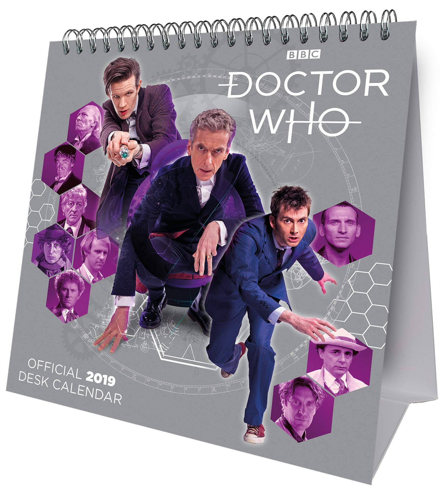 Doctor Who Desk Easel Official 2020 Calendar  Month to View Desk Calendar with removable Postcard