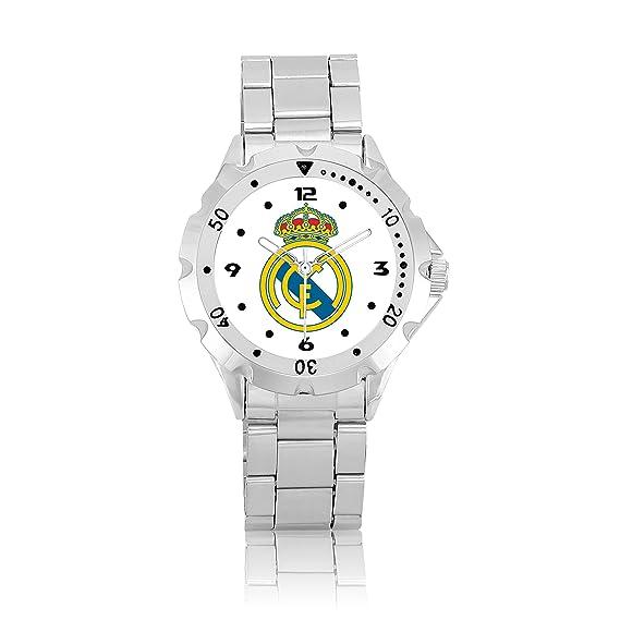 Bisel Giratorio Sport reloj de muñeca para Real Madrid Blanco