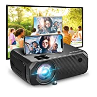 Wi-Fi Mini Projector, Bomaker Portable Phone Projector for Outdoor Movies, 6000Lux, Full HD Outdoor Movie Projector,Wireless Mirroring, for iPhone/Android/Laptops/PCs/Windows/DVD Player/TV Stick