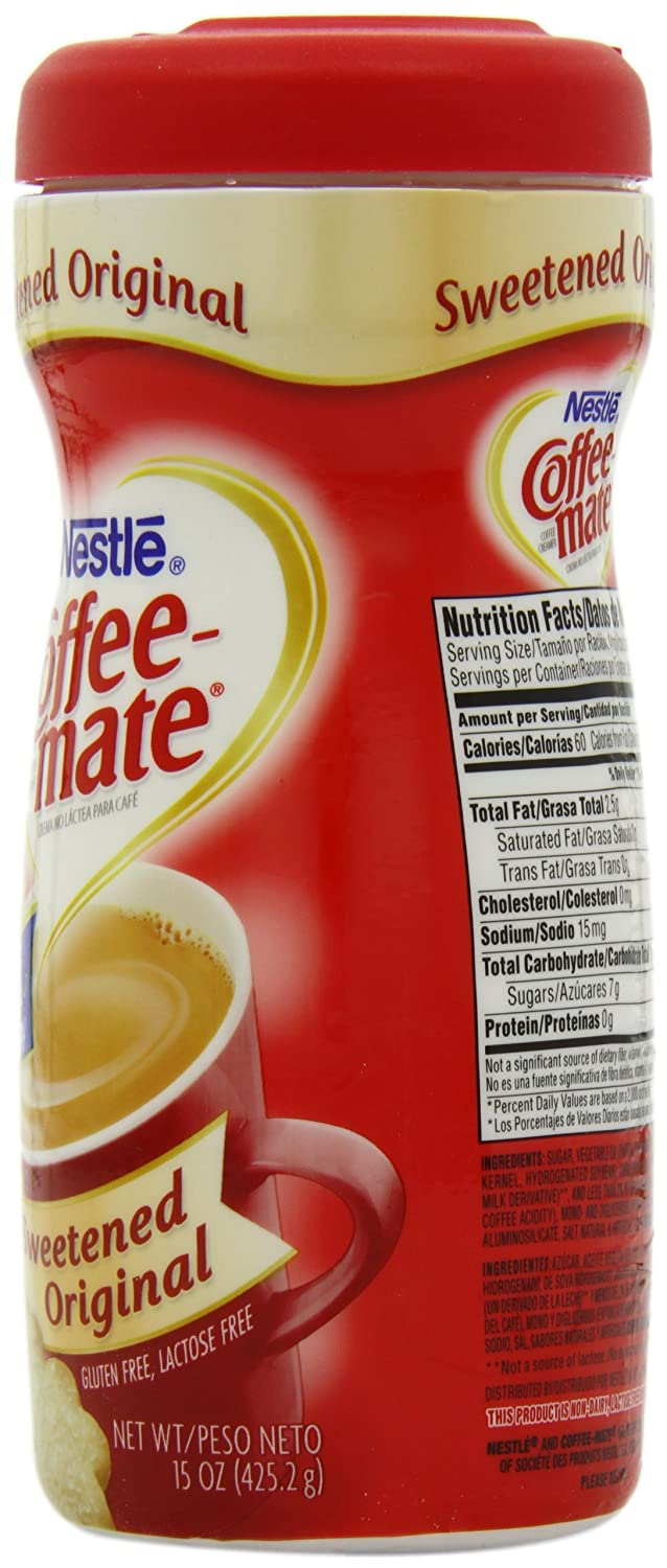 Coffee-mate Sweetened Original Powdered Cream, 15 Ounce (Pack of 6): Amazon.com: Grocery & Gourmet Food