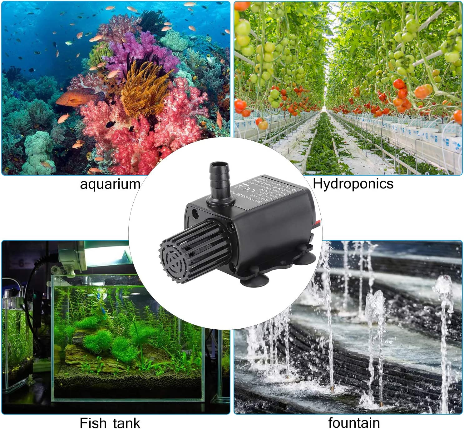 Aquarium Kyrio Mini Brushless Water Pump Irrigation System and Other Water Circulation Applications DC 12V Small Submersible Water Pump Brushless Motor for Small Water Fountain Water Fall