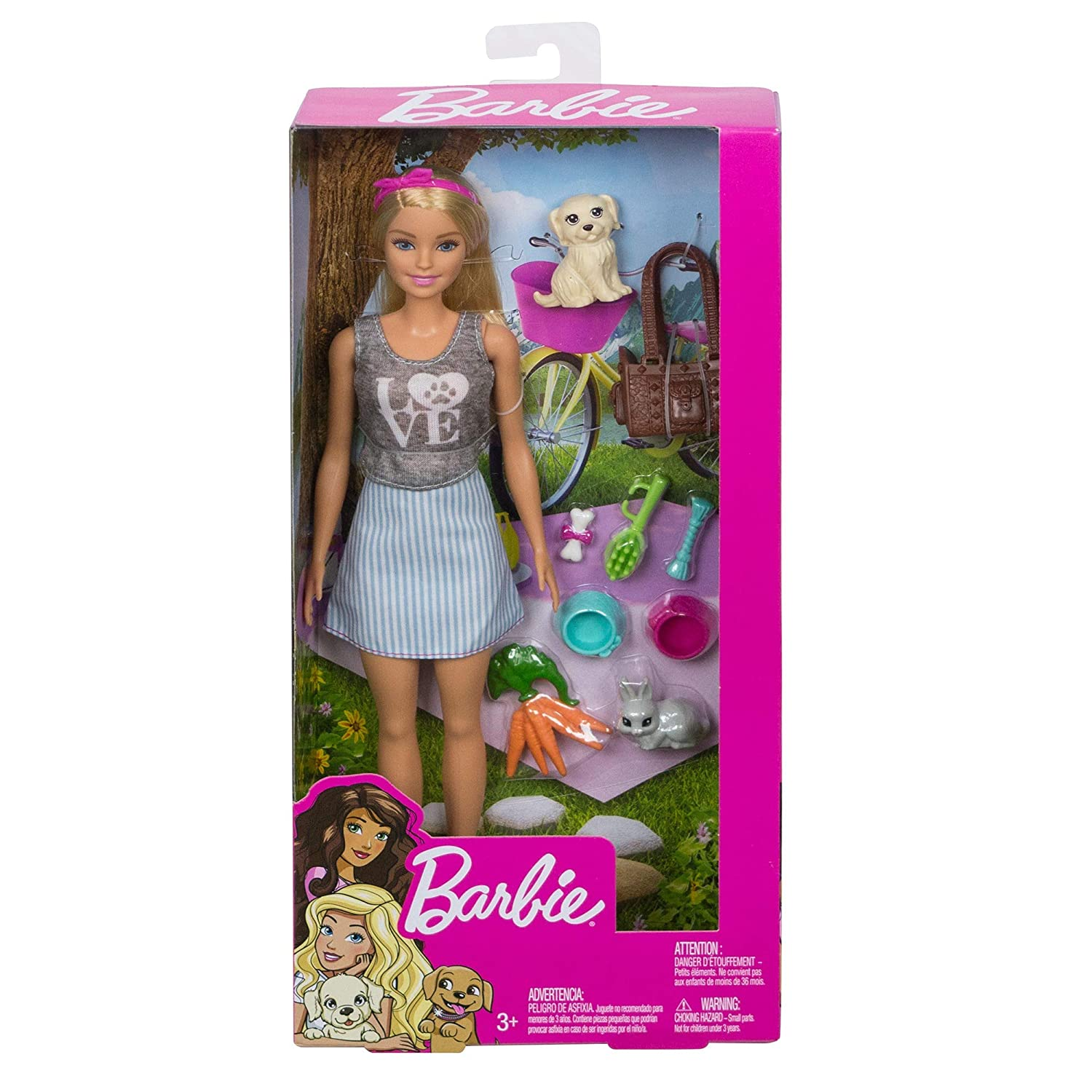 Barbie Animal Lovers Playset Puppy and Bunny Edition