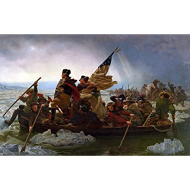 Young N Refined George Washington's Crossing of The Delaware River high qulity Print Home Decor Reproduction (16x20)