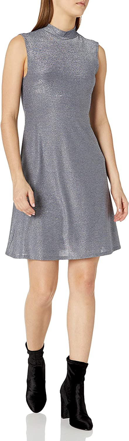 Only Hearts Womens Metallic Jersey Open Back Dress W//Liner