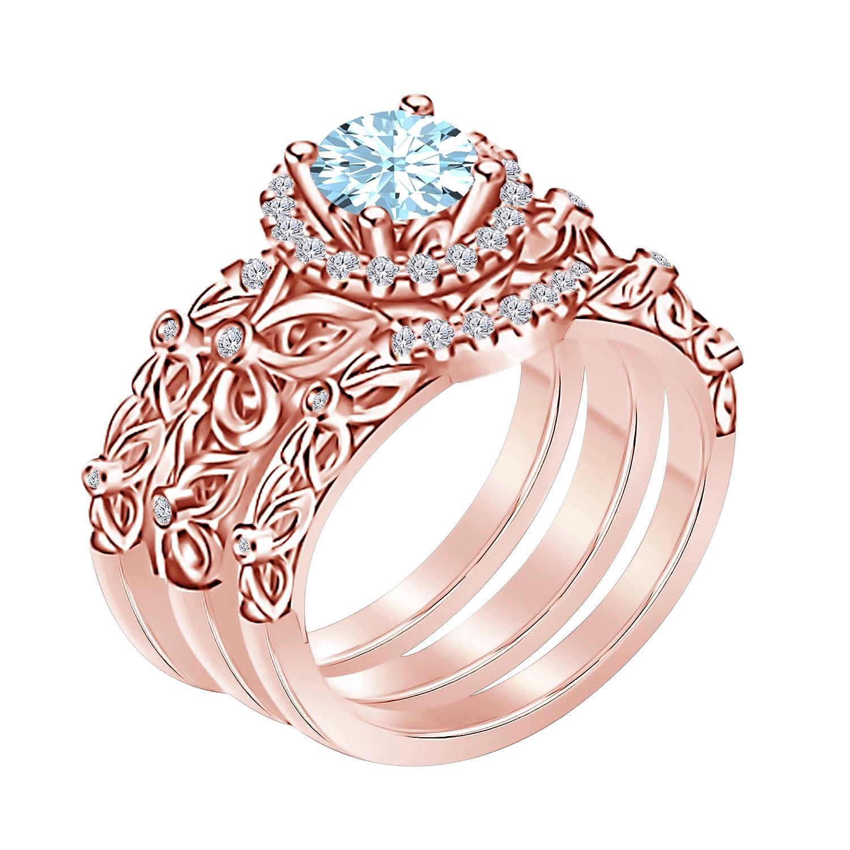 Amazon.com: RSJ Global 3pcs Womens Bridal Set Wedding Matching ...