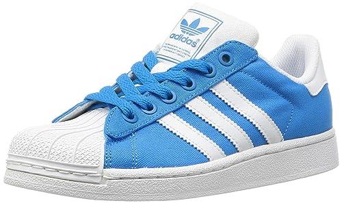 adidas Superstar 2 - Zapatillas de Lona para Mujer Azul Azul: Amazon.es: Zapatos y complementos
