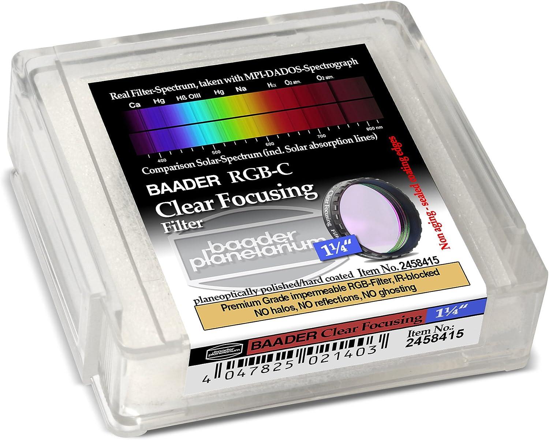 Baader Planetarium Klarglasfilter 31,8mm zum Fokussieren mit RGB//Linienfiltern
