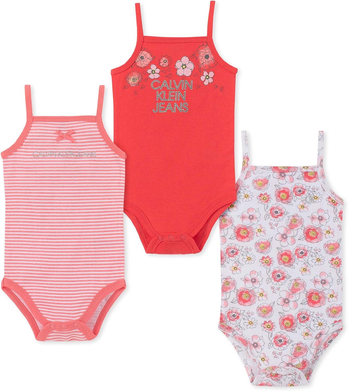 Calvin Klein Baby Girls' 3 Pieces Pack Bodysuits