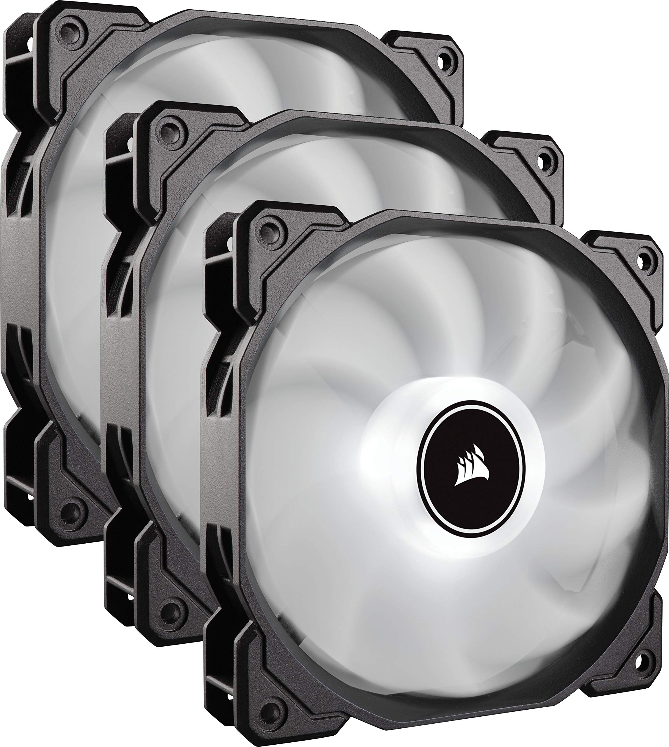 CORSAIR AF120 LED Low Noise Cooling Fan Triple Pack - White Cooling CO-9050082-WW by Corsair