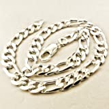 GENUINE REAL 925 STERLING SILVER SOLID FILLED UNISEX JEWELLERY MEN'S HEAVY BLING LINK NECKLACE CHAIN