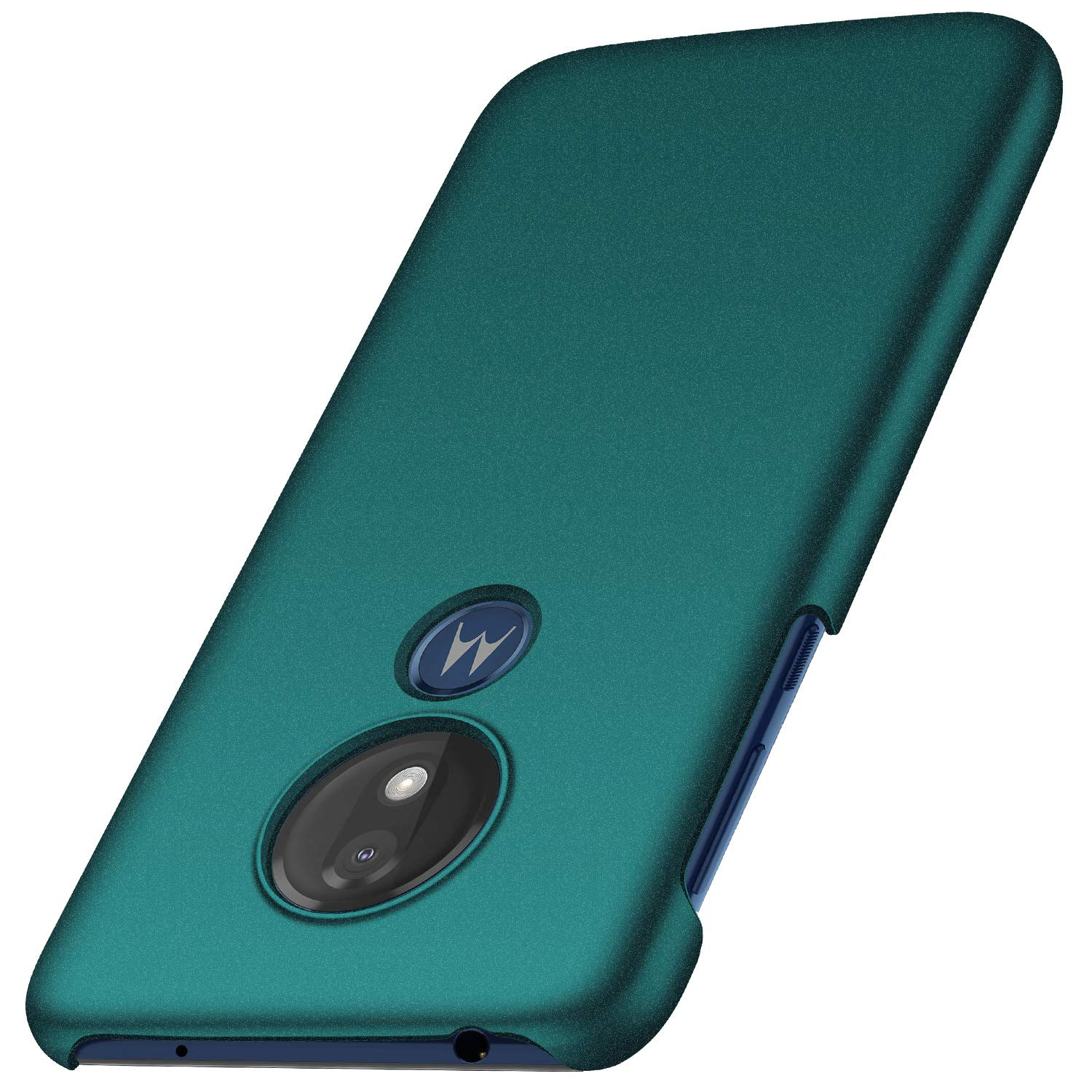 Anccer Compatible for Moto G7 Power Case, [Colorful Series] [Ultra-Thin] [Anti-Drop] Premium Material Slim Full Protection Cover For Moto G7 Power (Gravel Green)