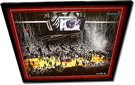 Signed LeBron James Picture - Autograph 18x24 Suede Framed 600 ...
