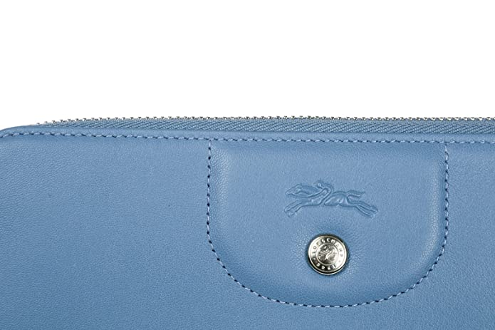 Longchamp monedero cartera bifold de mujer en piel nuevo blu ...