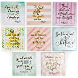 Pipilo Press Christian Verse Quotes Square Magnets (8 Pack) 8 Designs, 2.5 Inches