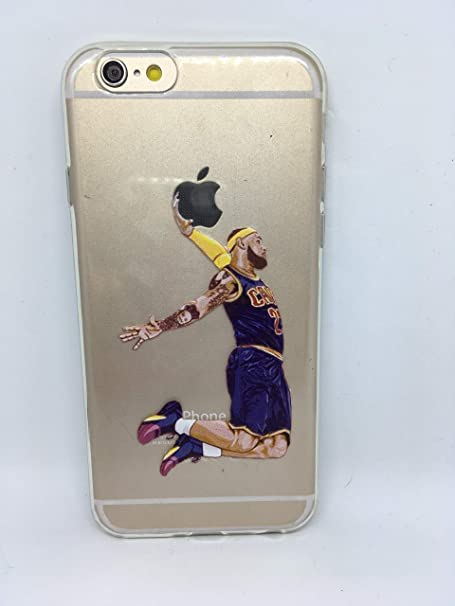 Funda Carcasa de Silicona iPhone 6 o iPhone 6s Basketball Lebron ...