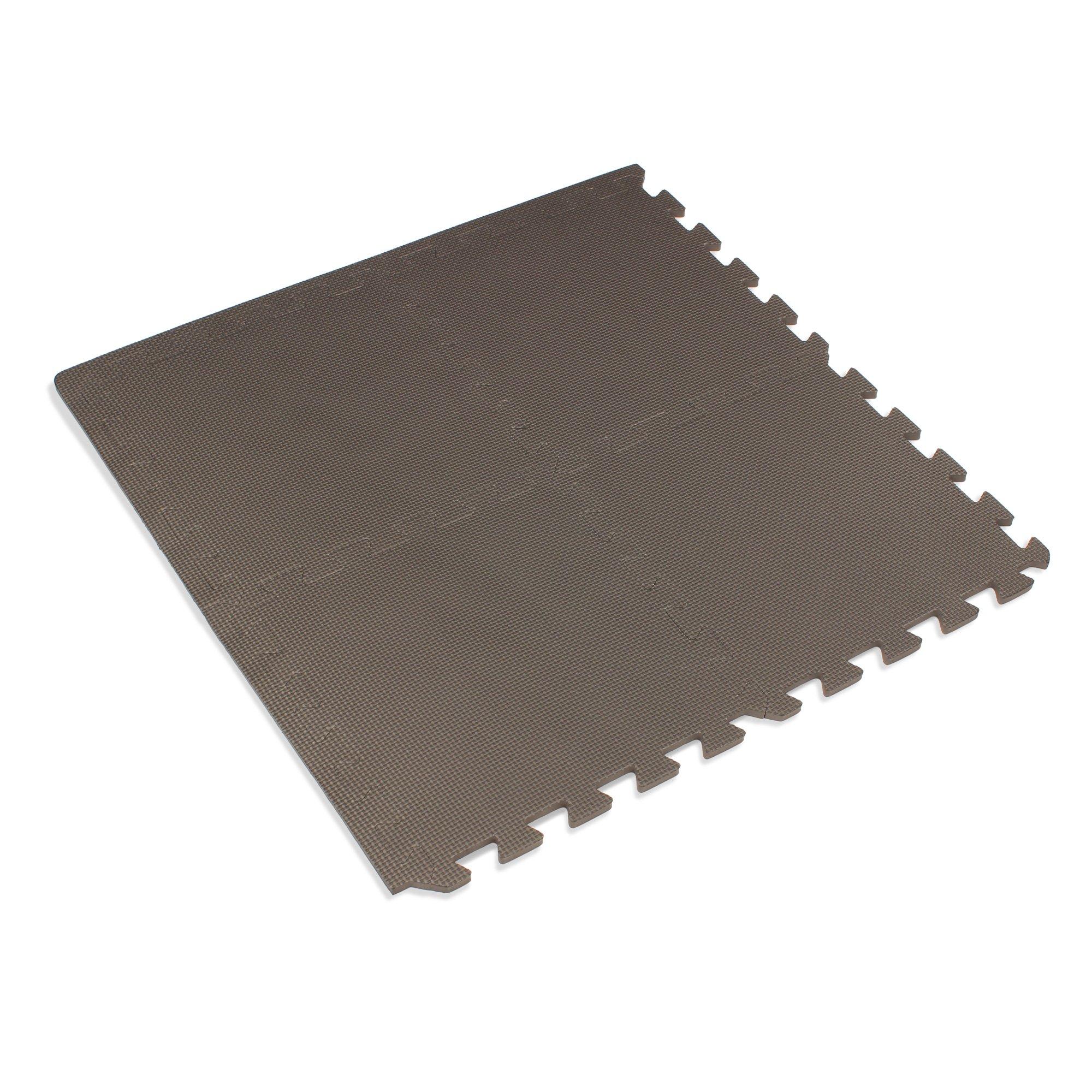 We Sell Mats 12'' x 12'' x 3/8 24 Sq Ft Charcoal Gray Interlocking Foam Mat