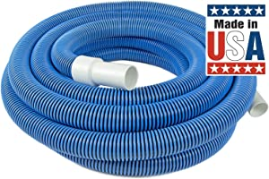 Poolmaster 33435 Heavy Duty In-Ground Pool Vacuum Hose With Swivel Cuff, 1-1/2-Inch by 35-Feet (Renewed)