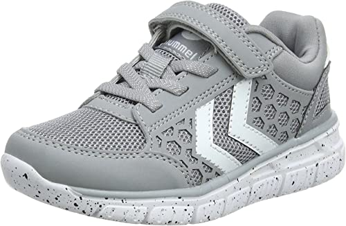 Hummel Crosslite JR Boys  Trainers In Alloy Grey  with White