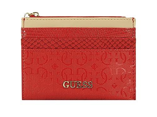 check-out 3b9ef 3d160 Guess fiori con tasche porta carte di credito, colore: rosso ...
