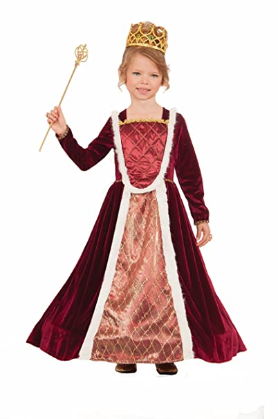 Forum Novelties Kids Deluxe Royal Medieval Queen Costume, Multicolor, Large