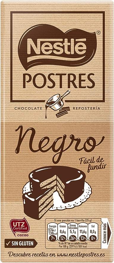 Nestlé Postres Chocolate Negro para Fundir, 250g: Amazon.es ...
