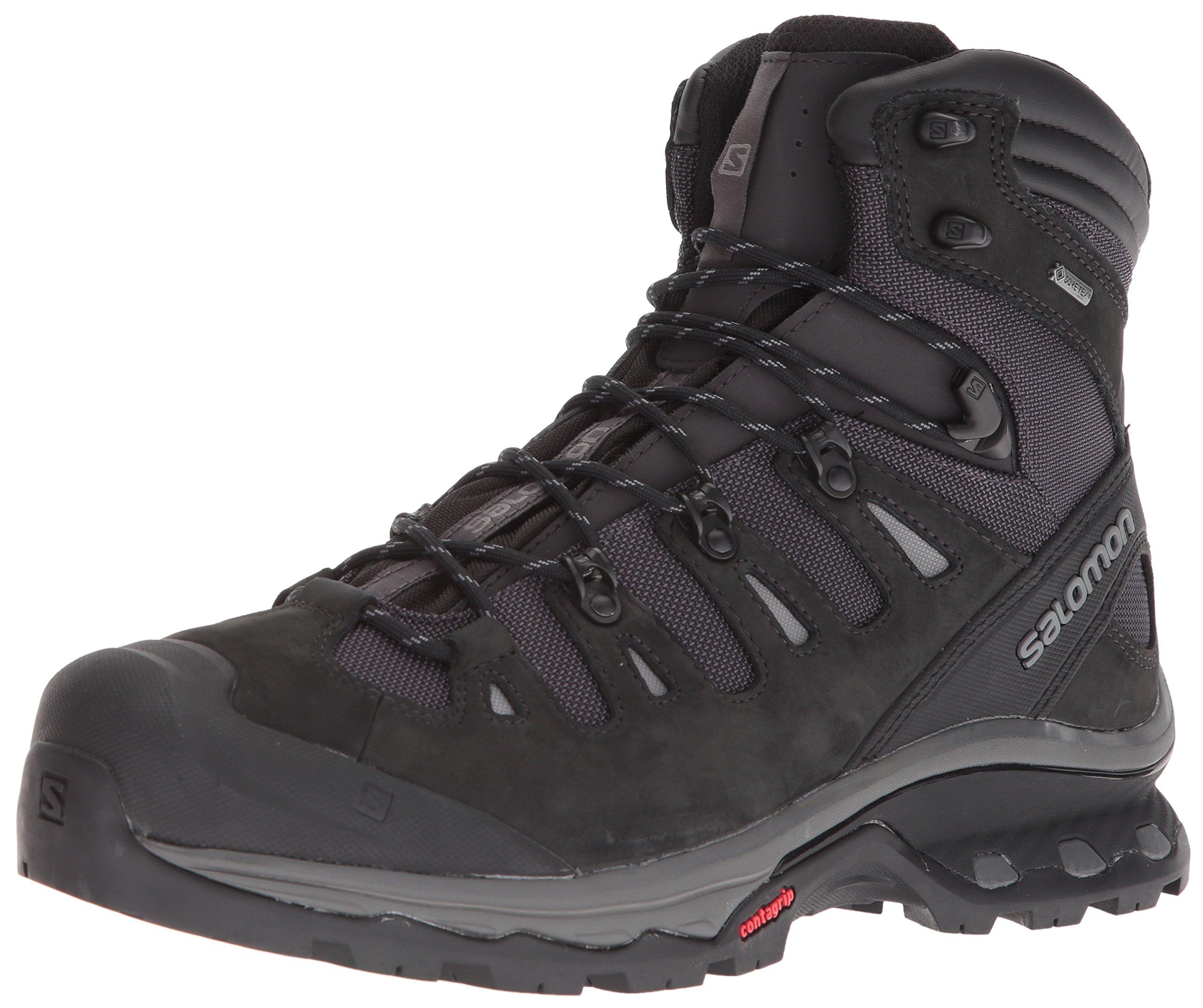 Salomon Men's Quest 4D 3 GTX Backpacking Boots, Phantom/Black, 10 M US