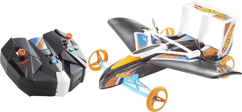 Hot Wheels - Avión Coche de radiocontrol Hawk Street, 44 x 30 cm (Mattel CJD87-0)