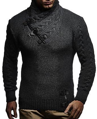 LEIF NELSON Herren Pullover Hoodie Strickpullover Sweatshirt Longsleeve  Strickjacke Winterpullover Pulli LN7075  Amazon.de  Bekleidung 58db0bd924