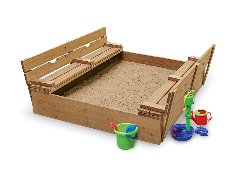 Amazon.com: Badger Basket Covered Convertible Cedar Sandbox with ...