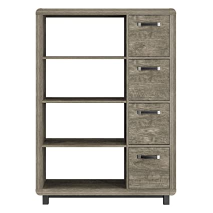 Ameriwood Home Eastlin Bookcase With Bins Brown