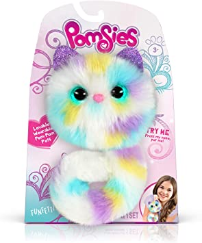 Pomsies Plush Wearable Pet With Light Up Eyes /& Sounds Cat Fluffy Interactive UK