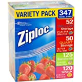 Ziploc Variety Pack 347 Total Bags by SC Johnson