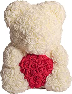 Baqah Rose Bear for Multiple occasions - Off White