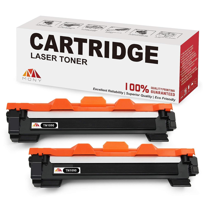 Mony Compatible Cartuchos de Tóner para Brother TN1050 TN-1050 (2 Negro) Compatible con Brother DCP-1510 HL-1110 DCP-1612w MFC-1910w MFC-1810 HL-1210w ...