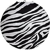"12"" Round Paper Hanging Paper Lantern, Zebra"