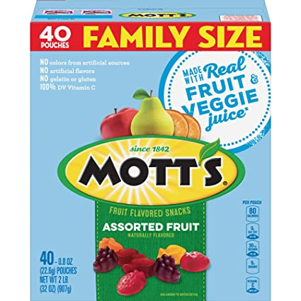 Amazon.com: Motts Fruit Snacks, bocadillos surtidos sin ...