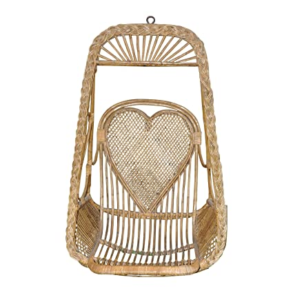 WHITE AND WHITE NATURAL ECO FRIENDLY CANE SWING CHAIR