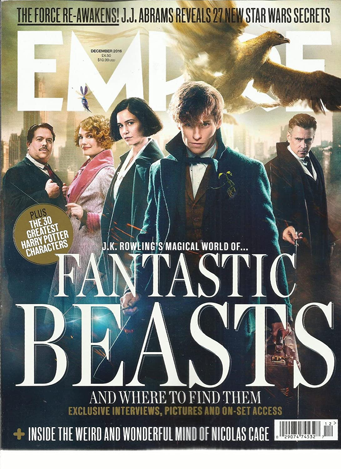 EMPIRE FANTASTIC BEASTS AND WHERE TO FIND THEM DECEMBER, 2016 ISSUE, 330 s3457
